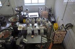 Предприятие для продукции мясных продуктов стоковые изображения