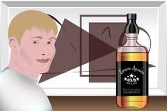 Представление алкогольных напитков Студия дизайна подготовка шаблона вектор Стоковое Фото