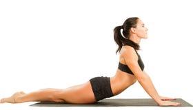 представление бюстгальтера резвится детеныши йоги женщины Стоковая Фотография