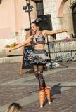 Представление выставки счастливого часа выполнило дуо Looky от Израиля на 31th улице - международном фестивале театров улицы i Стоковая Фотография