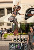 Представление выставки счастливого часа выполнило дуо Looky от Израиля на 31th улице - международном фестивале театров улицы i Стоковые Изображения