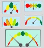 Представление или индикаторы силы с необыкновенными масштабами иллюстрация вектора