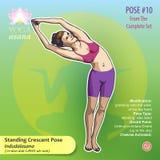 Представление 10 йоги стоящее серповидное Стоковое Фото