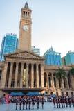 Представление перед здание муниципалитетом Брисбена australites стоковые изображения rf
