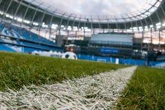 Представление поля на заново построенном стадионе динамомашины в Moscowe стоковое фото
