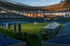 Представление поля на заново построенном стадионе динамомашины в Moscowe Стоковое Изображение