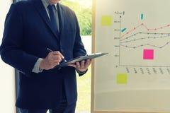 представление стойки бизнесмена в групповой встрече бизнес-группы стоковое изображение