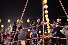 Представление танца Odori Bon стоковая фотография rf
