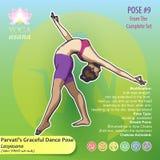 Представление 9 танца Parvati's йоги грациозно Стоковое Изображение RF