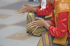представление танцульки тайское Стоковая Фотография