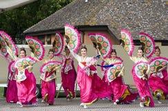 представление танцульки этническое корейское Стоковая Фотография