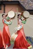 представление танцульки этническое корейское стоковые изображения rf