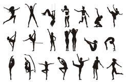 представление чертежей женское гимнастическое Стоковое Изображение RF