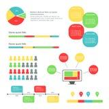 Представление Infographics дела Красочное объясняя Infographics с вариантами и значками стоковая фотография