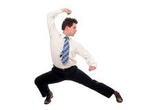 представление kung fu бизнесмена Стоковое Изображение RF