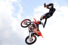 Представление motocross фристайла стоковое фото rf
