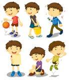 представления мальчика 5 Стоковые Изображения RF