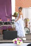 Представления невесты на этап Стоковое Изображение