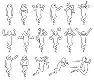 Представления призрака основные и значки позиций бесплатная иллюстрация