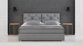 представленная молния окружающей спальни 3d нутряная классицистическое самомоднейшее Стоковые Фото