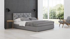 представленная молния окружающей спальни 3d нутряная классицистическое самомоднейшее Стоковые Изображения