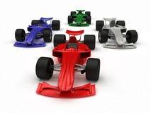 представленная формула принципиальной схемы автомобилей 3d Стоковая Фотография RF