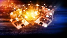 представленное изображение компьютерной сети 3d стоковые изображения rf