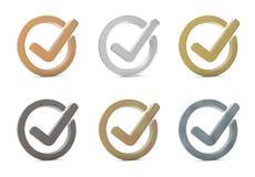 представленное изображение контрольной пометки 3d икона 3d Стоковые Изображения