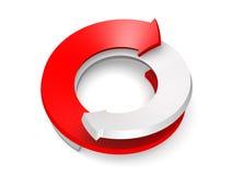 представленное изображение стрелки 3d схематическое Стоковые Фото