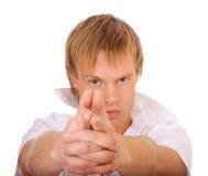 представленные всходы пистолета человека Стоковая Фотография RF