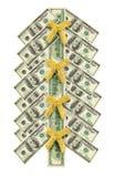представляет счет вал рождества сделанный долларом Стоковое Изображение