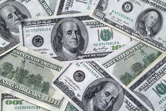 представляет счет доллар 100 одно Стоковая Фотография