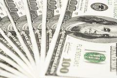 представляет счет доллар 100 Стоковое Изображение