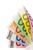 представляет счет дуют евро, котор Стоковое Изображение
