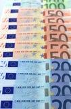 представляет счет евро Стоковое Изображение