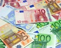 представляет счет евро Стоковое Изображение RF