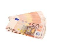 представляет счет евро 50 Стоковая Фотография RF