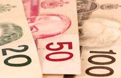 представляет счет канадский доллар Стоковое фото RF