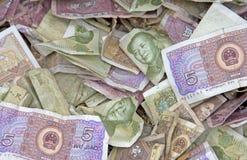 представляет счет киец много yuan Стоковые Фотографии RF