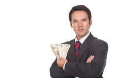 представляет счет положение человека серии доллара Стоковые Изображения RF