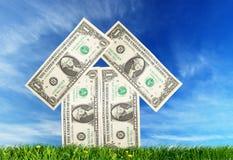 представляет счет сделанное воображение долларов домашнее Стоковые Изображения