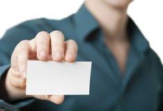 представлять бизнесмена businesscard вскользь Стоковое Фото