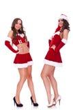 представлять женщин santa сексуальных Стоковое Изображение RF