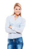 Представлять молодой женщины Smiley Стоковое Изображение RF