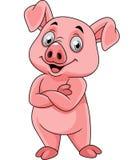 Представлять свиньи мультфильма счастливый бесплатная иллюстрация