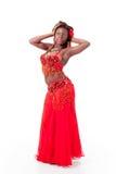 представлять танцора живота афроамериканца Стоковое Фото