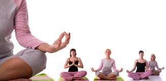 представьте йогу Стоковая Фотография RF
