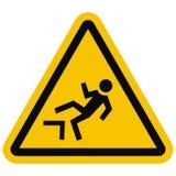 Предупредительные знаки Опасность падать от высоты Стоковое Фото