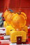 Предупредительные световые сигналы конструкции Стоковое фото RF