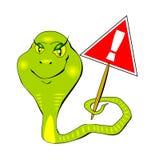 Предупредительный знак змейки вектора eps10 Стоковое фото RF